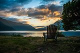 Crescent Lake Chair Art Print