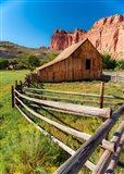 Utah Barn Art Print