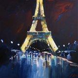 Eiffel Rain Art Print
