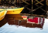 Dories and Reflection Art Print
