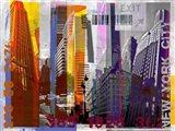New York Sky Urban Art Print