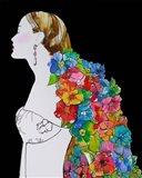 Flower Hair Art Print
