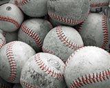 Vintage Baseballs Art Print