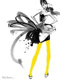 Yellow Tights Art Print