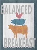Balanced Breakfast One Art Print