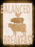 Balanced Breakfast Two Art Print