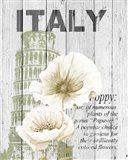 Italy Poppies Art Print