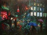 Night Rain in NY Art Print