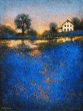 Blue Fields Art Print