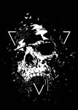 Skull X BW Art Print