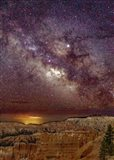 Milky Way over Bryce Canyon Art Print