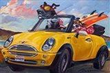 Sunup Surfdogs Art Print