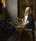 Woman Holding a Balance, 1664 Art Print