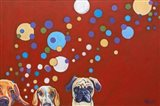 When Dogs Drink Art Print