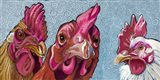 Three Chicks Art Print