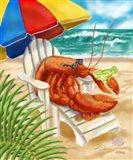 Beach Friends - Lobster Art Print