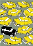 Odd Ones - Black Cab Art Print
