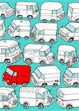 Odd Ones - Red Van Art Print