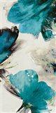 Blue Ribbon Blooms II Art Print