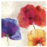 Lush Floral I (watercolour florals) Art Print