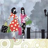 Girls Gone Shopping Art Print