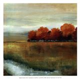 Orange Treescape II - mini Art Print