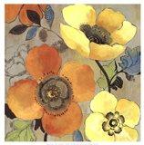 Yellow and Orange Poppies I Art Print