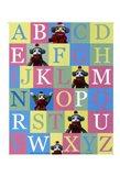 Alphabet Theory - mini Art Print