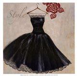 Style - mini - Black Dress Art Print
