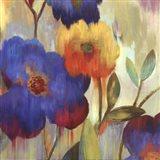 Ikat Florals I - Mini Art Print