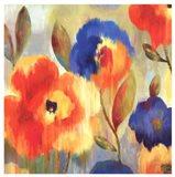 Ikat Florals II Art Print