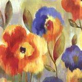 Ikat Florals II - Mini Art Print