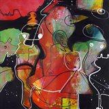 Abstract on Black 2 Art Print