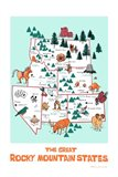 The Great Rocky Mountain States Art Print
