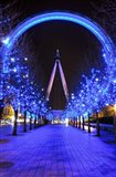 The London Eye at Christmas Art Print
