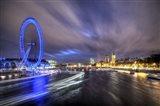 Light Trails Up The Thames Art Print