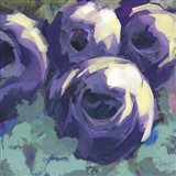 Passion for Purple Abstract Floral Art Print