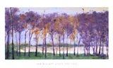 Grove and Lake Art Print