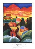 New Mexico Village Art Print