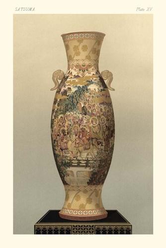 Satsuma Vase Pl. XV Art Print by Audsley