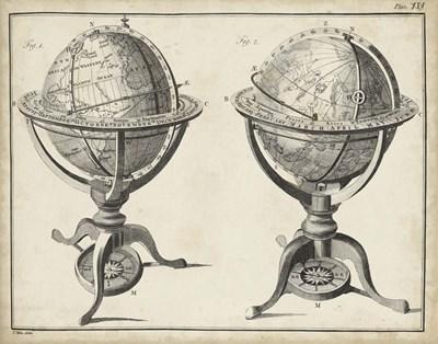 Antique Terrestrial & Celestial Globes Art Print by Adams