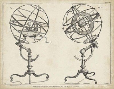 Antique Armillary Spheres Art Print by Adams