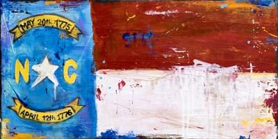 NC Flag Art Print by Ashley