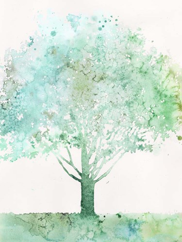 Aquamarine Tree I Art Print by Meagher