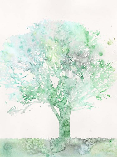 Aquamarine Tree II Art Print by Meagher