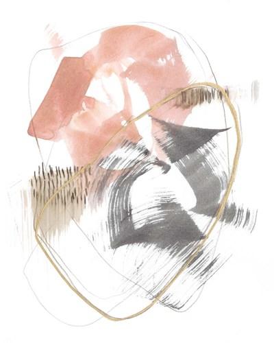 Blushing Circularity I Art Print by Goldberger