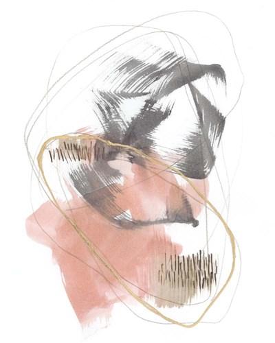 Blushing Circularity II Art Print by Goldberger
