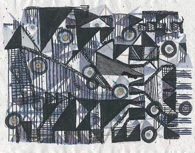 Circles & Triangles Art Print by Arbel