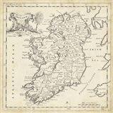 Map of Ireland Art Print