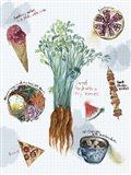 Food Sketches I Art Print